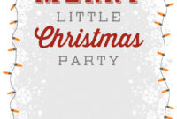 A Merry Little Party – Free Printable Christmas Invitation with Free Christmas Invitation Templates For Word