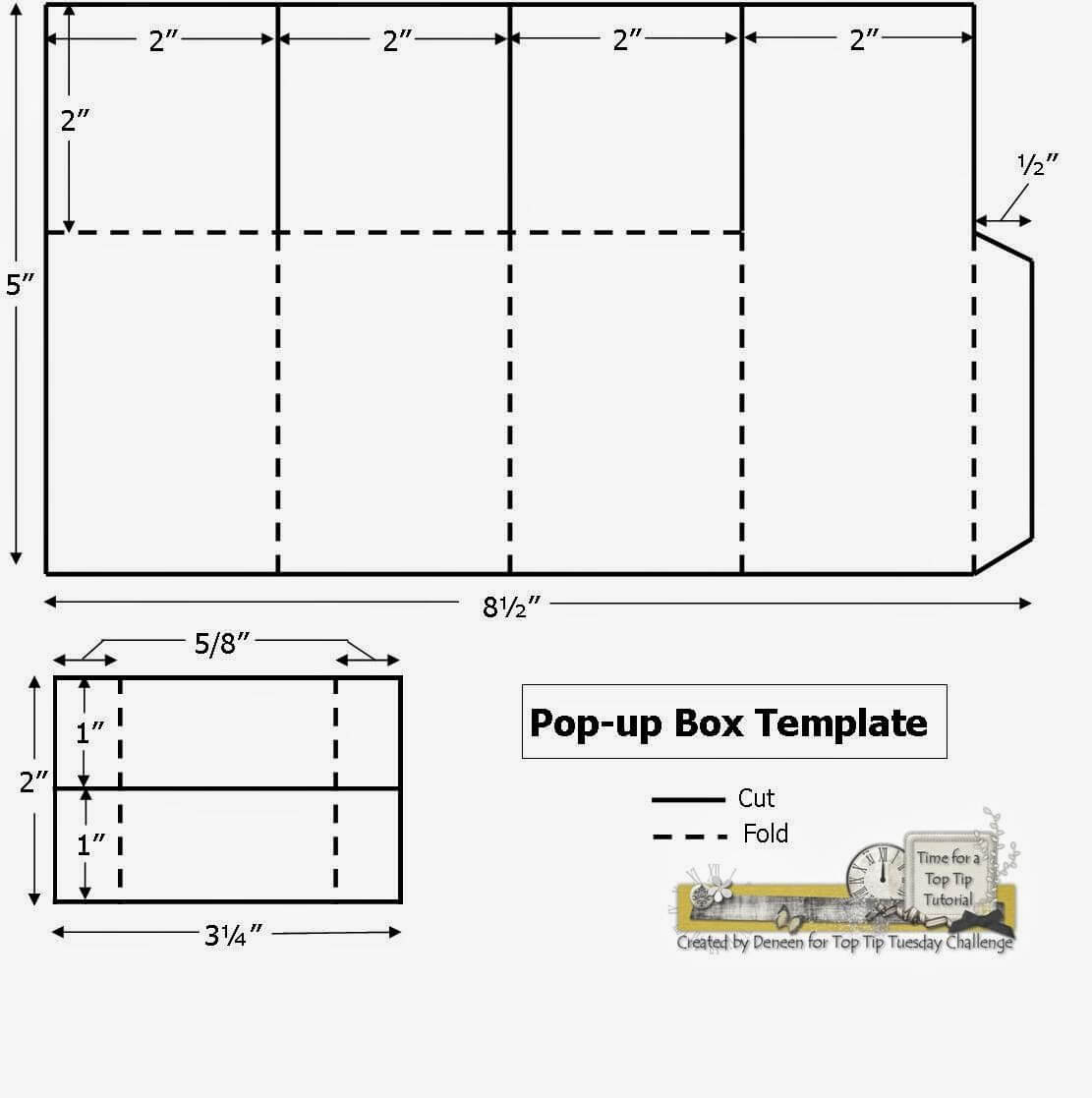 A Path Of Paper: Top Tip Tuesday Numbers Challenge And Pop with regard to Pop Up Box Card Template