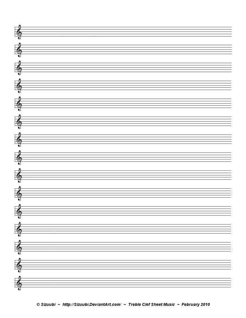 A Simple, Blank Sheet Of Music For Musicians Hoping To Write intended for Blank Sheet Music Template For Word