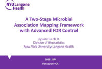 A Two-Stage Microbial Association Mapping Framework With within Nyu Powerpoint Template