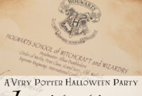 A Very Potter Halloween Party: Invitations   Diy Projects I with regard to Acceptance Card Template