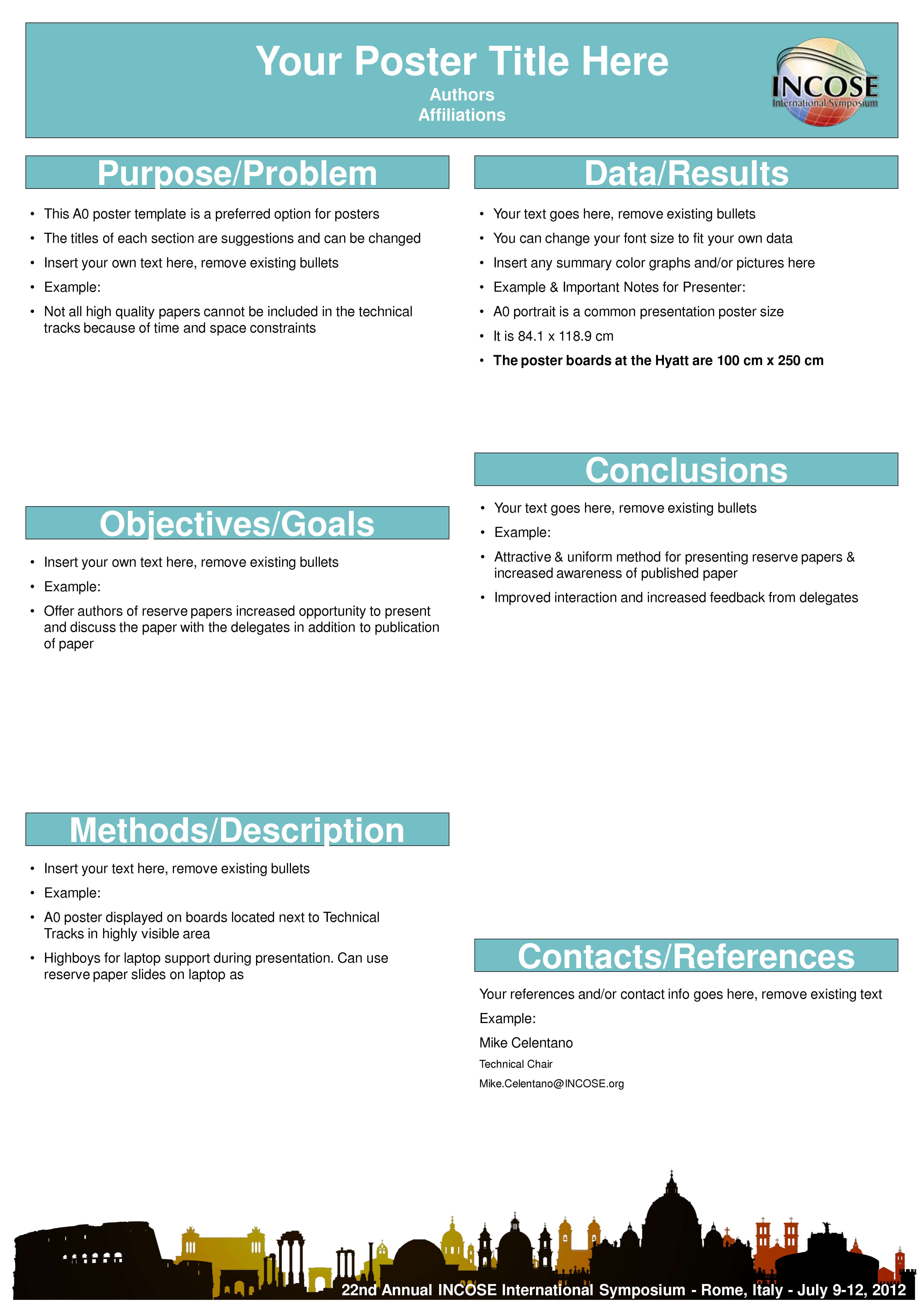 A0 Poster Templates Unique Scientific Poster Template Free With Powerpoint Poster Template A0