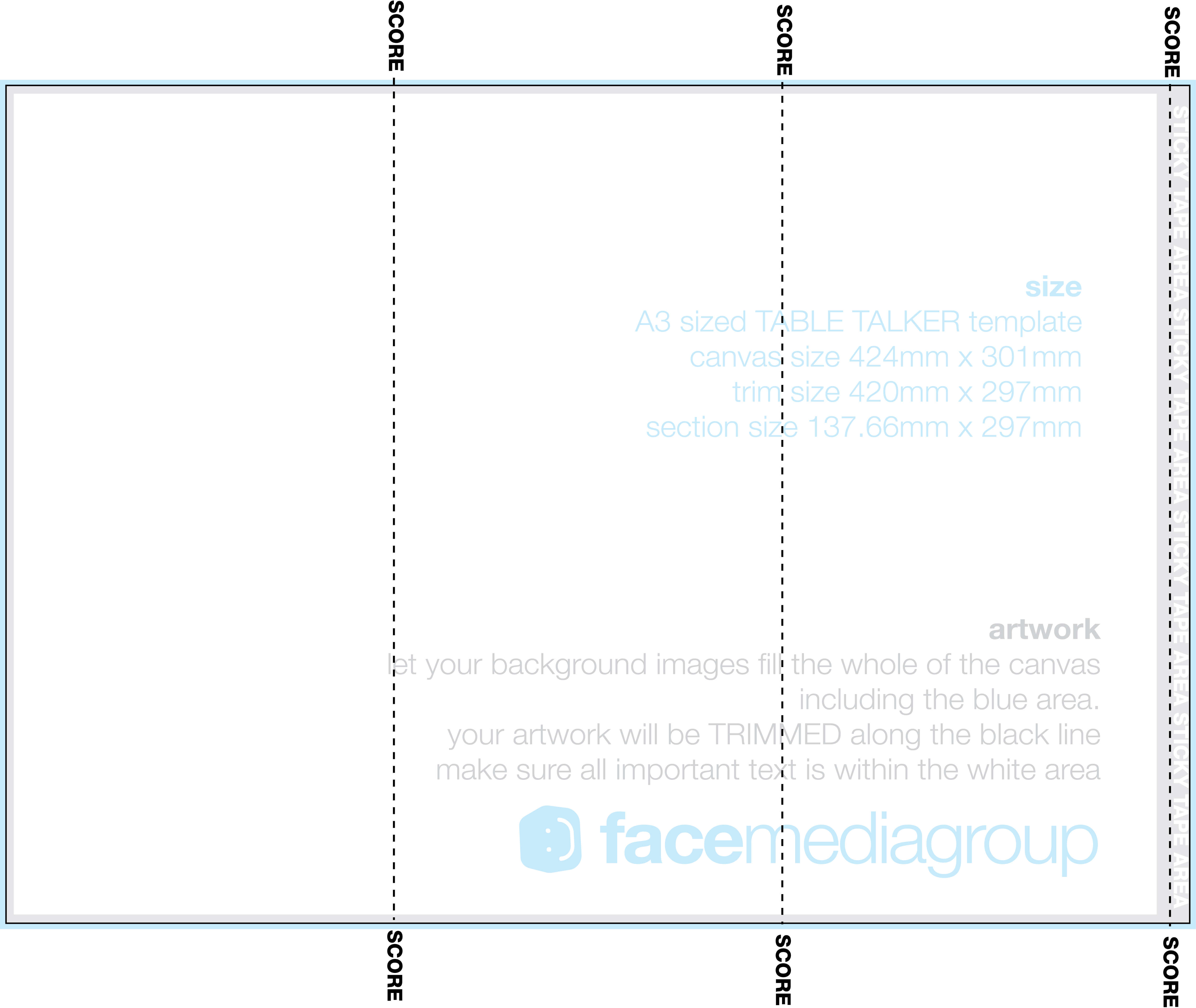 A3 Tri Fold Table Talker Template | Photo Page - Everystockphoto In Tri Fold Tent Card Template