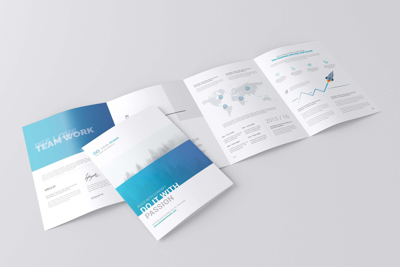 A4 4-Fold Brochure Mockuptoasin Studio On with 4 Fold Brochure Template