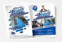 A4 Cleaning Service Poster Template In Psd, Ai & Vector regarding Cleaning Brochure Templates Free