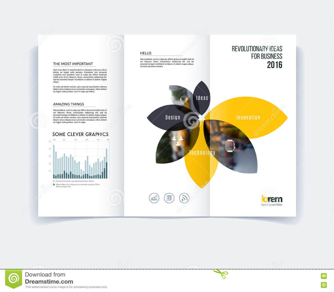 A4 Tri Fold Brochure Template Psd Free Download Templates In Inside Engineering Brochure Templates