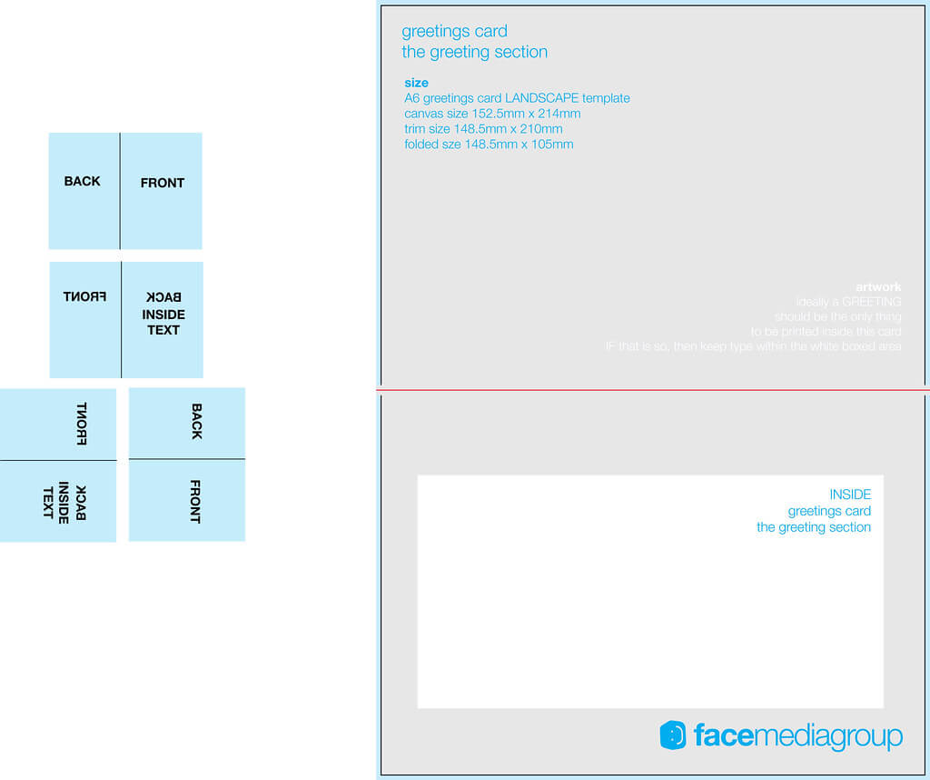 A6 Landscape Greetings Card Template - Tent Fold - Inside throughout Birthday Card Template Indesign