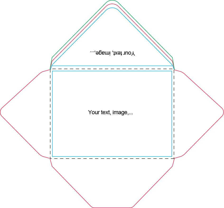 A7 Envelope Template | Craft Ideas | Card Making Tutorials With Regard To Envelope Templates For Card Making