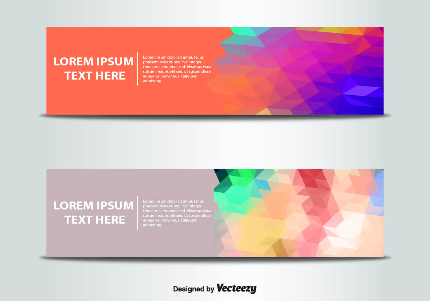 Abstract Banner Templates Vector | Free Vector Download In pertaining to Website Banner Templates Free Download