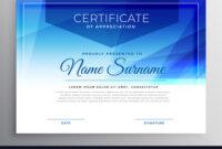 Abstract Blue Award Certificate Design Template with regard to Award Certificate Design Template