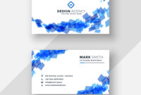 Abstract Blue Creative Business Card Template throughout Advertising Card Template