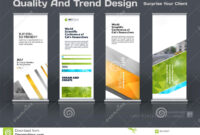 Abstract Business Vector Set Of Modern Roll Up Banner Stand for Banner Stand Design Templates