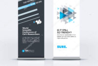 Abstract Business Vector Set Of Modern Roll Up Banner Stand pertaining to Banner Stand Design Templates