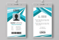 Abstract Corporate Id Card Design Template intended for Company Id Card Design Template