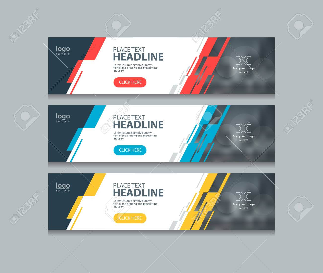Abstract Horizontal Web Banner Design Template Backgrounds Intended For Website Banner Design Templates