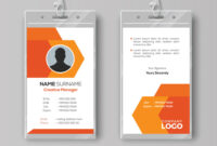 Abstract Orange Id Card Design Template in Conference Id Card Template