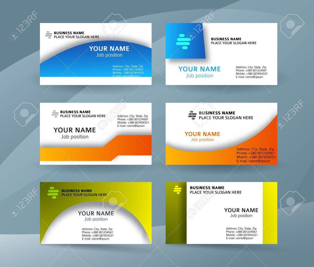 Abstract Professional And Designer Business Card Template Or.. Inside Professional Name Card Template