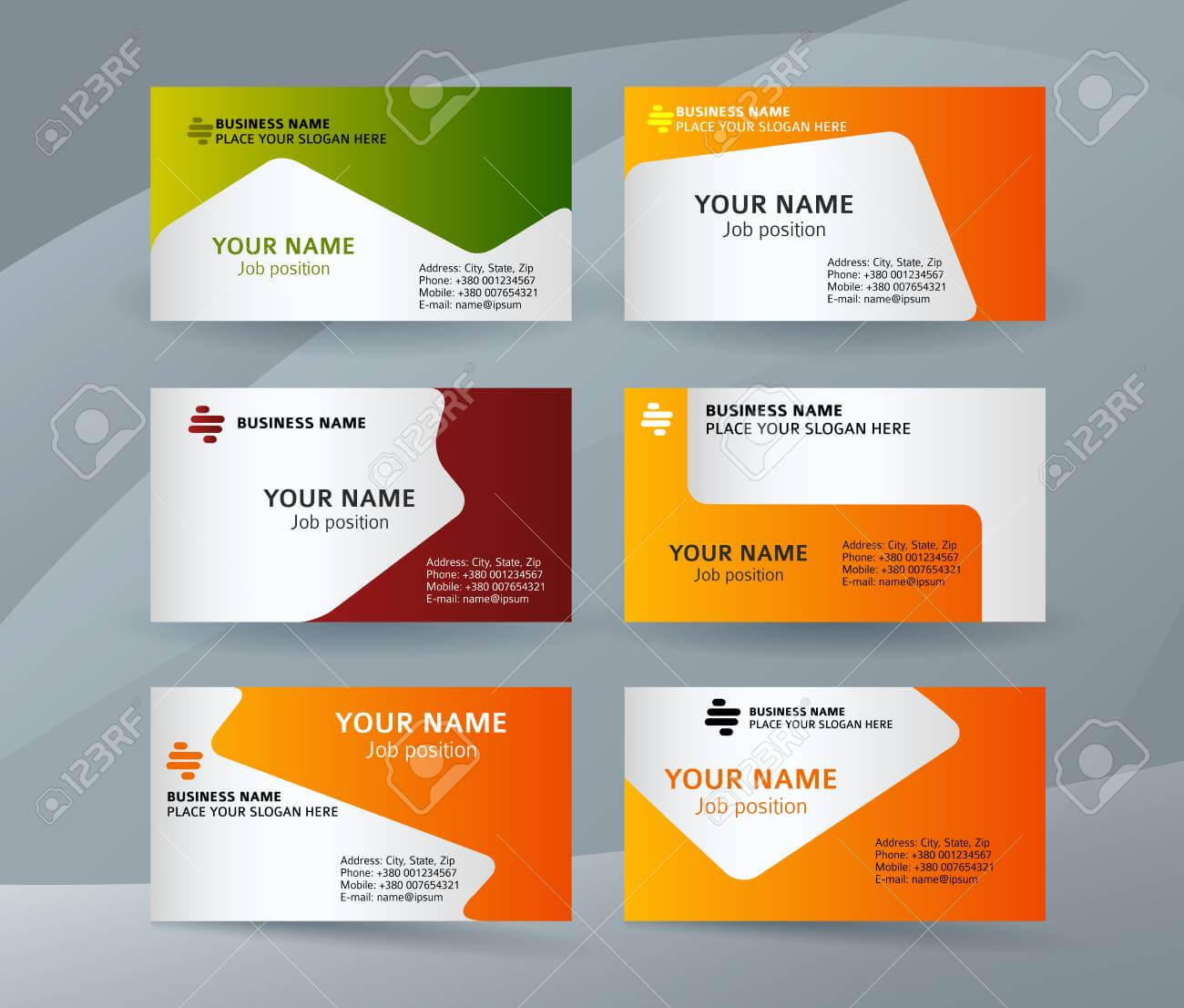 Abstract Professional And Designer Business Card Template Or.. pertaining to Professional Name Card Template