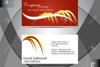 Abstract Professional Business Card Template Or Visiting Card.. pertaining to Professional Name Card Template