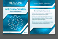 Abstract Technology Brochure Template Modern regarding Technical Brochure Template