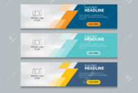 Abstract Web Banner Design Template Background Pertaining To Website Banner Design Templates