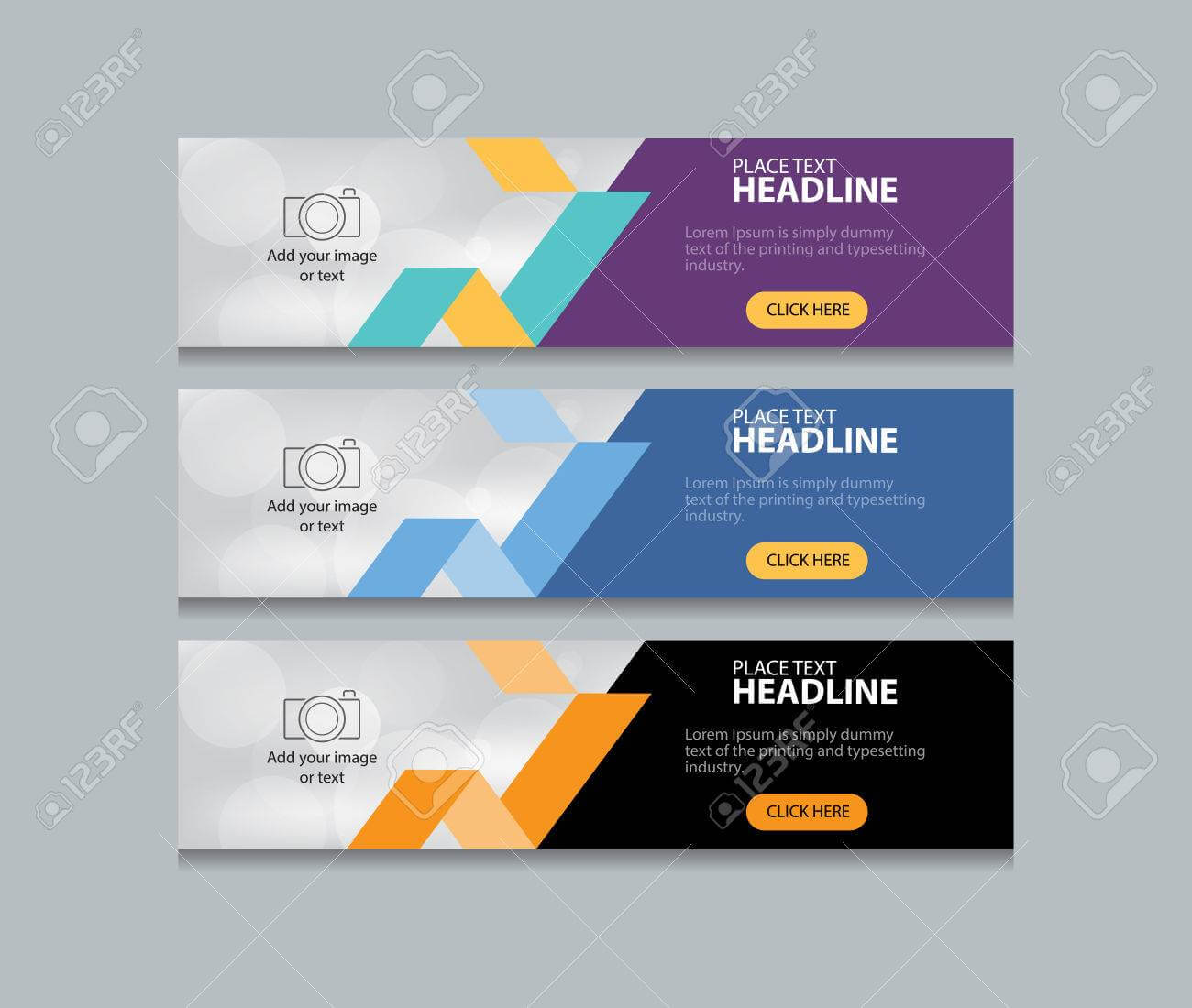 Abstract Web Banner Design Template Background With Regard To Website Banner Design Templates