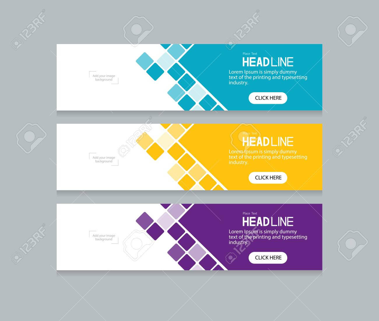 Abstract Web Banner Design Template With Regard To Website Banner Design Templates