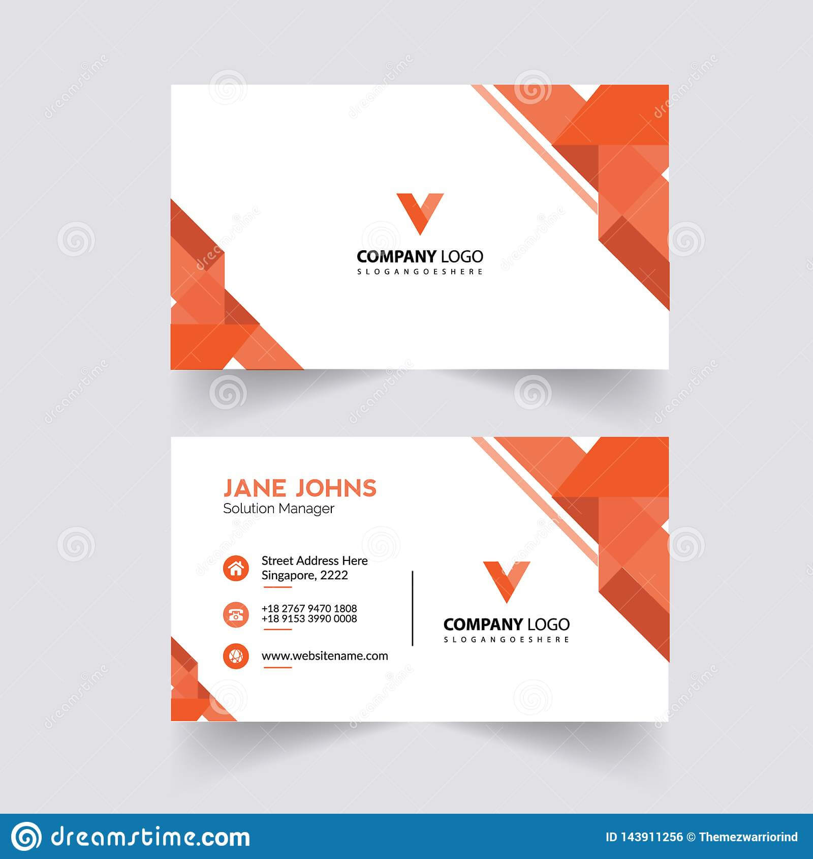 Abstruct Business Card Template Stock Illustration Pertaining To Adobe Illustrator Business Card Template