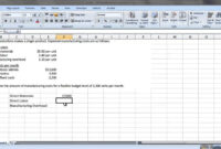 Acc 121 – Preparing A Flexible Budget with regard to Flexible Budget Performance Report Template