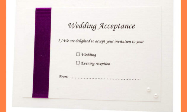 Acceptance Card Template Full Wedding 20 Acceptance 20 Card for Acceptance Card Template