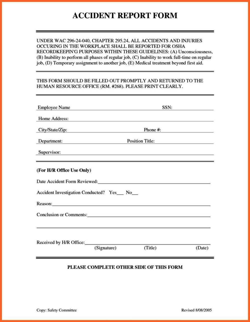 Accident Book Template - Www.toib.tk with regard to Incident Report Book Template
