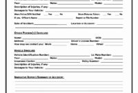 Accident Report Form Template Uk – Atlantaauctionco in Vehicle Accident Report Template