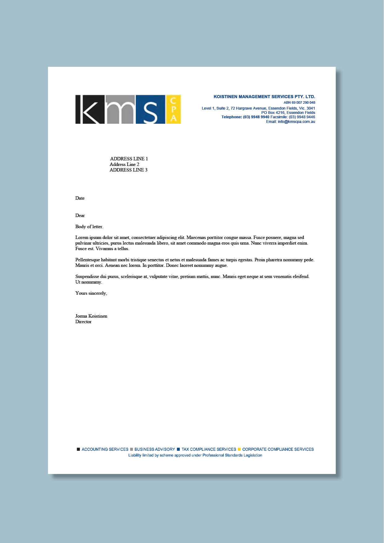 Accountancy And Management Consultancy Letterhead #cordestra intended for Headed Letter Template Word