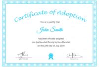 Adoption Certificates – Yupar.magdalene-Project for Pet Adoption Certificate Template