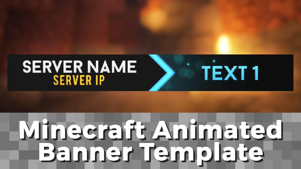 "Advanced .gif Minecraft Animated Banner Template - ""elegant Dazzle"" intended for Animated Banner Template"