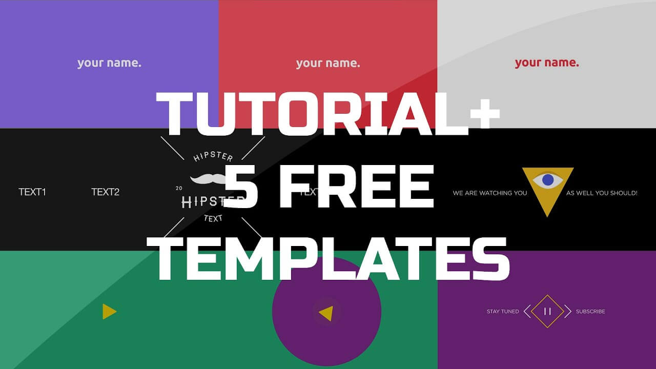 After Effects Tutorial - .gif Animated Banner & 5 Free Templates in Animated Banner Template