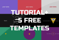 After Effects Tutorial – .gif Animated Banner & 5 Free Templates regarding Animated Banner Templates