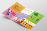 After School Care Tri-Fold Brochure Template In Psd, Ai pertaining to Tri Fold School Brochure Template
