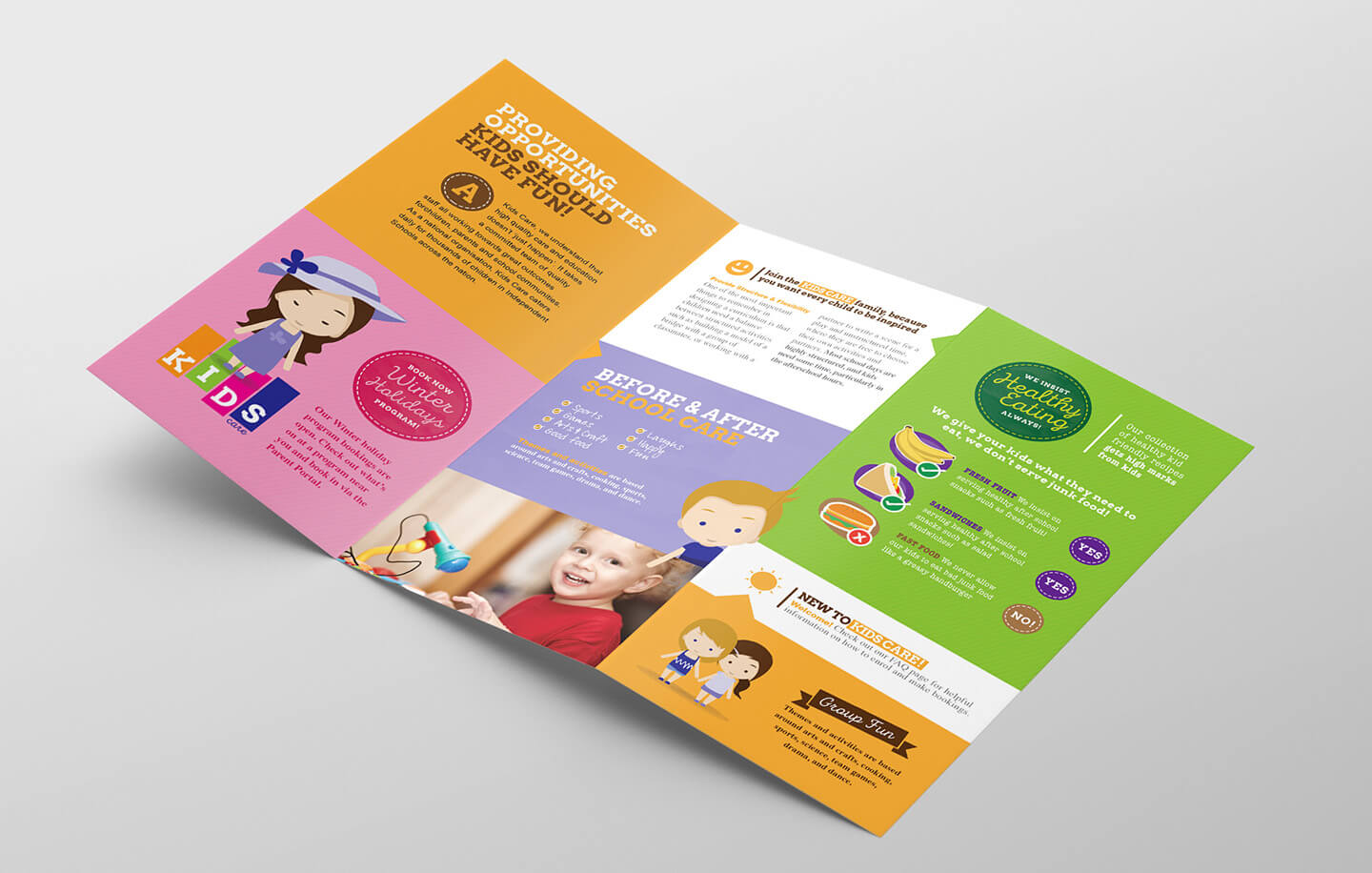 After School Care Tri Fold Brochure Template In Psd, Ai Pertaining To Tri Fold School Brochure Template