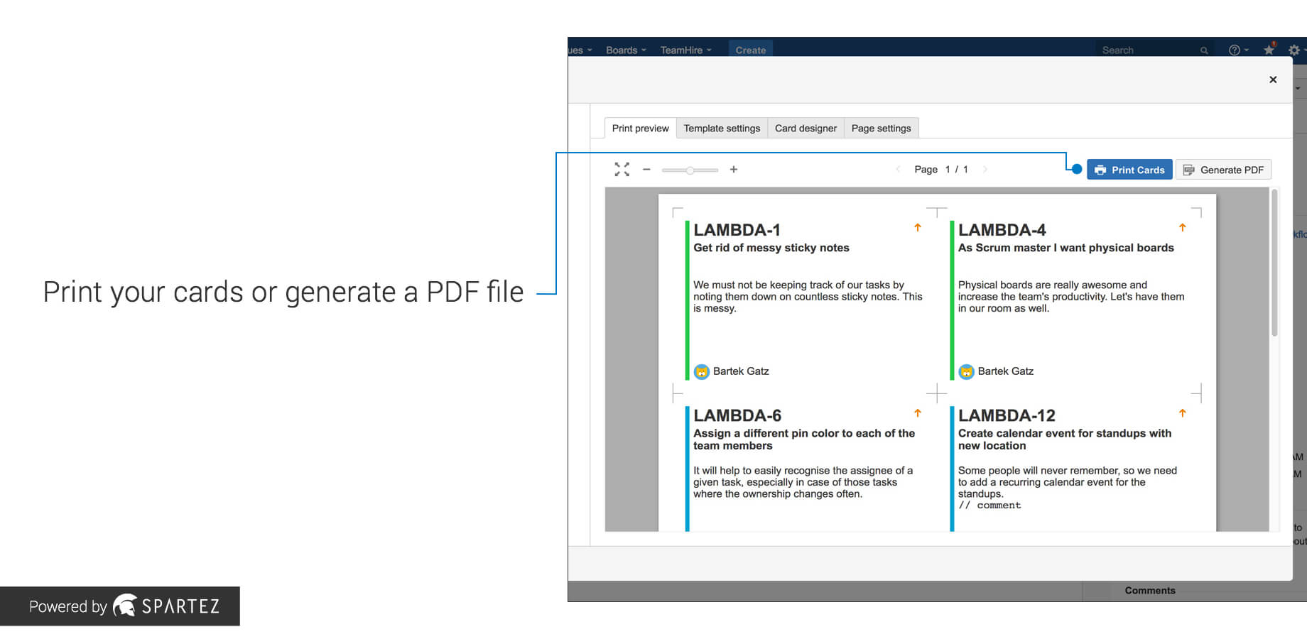 Agile Cards - Print Issues From Jira   Atlassian Marketplace inside User Story Template Word