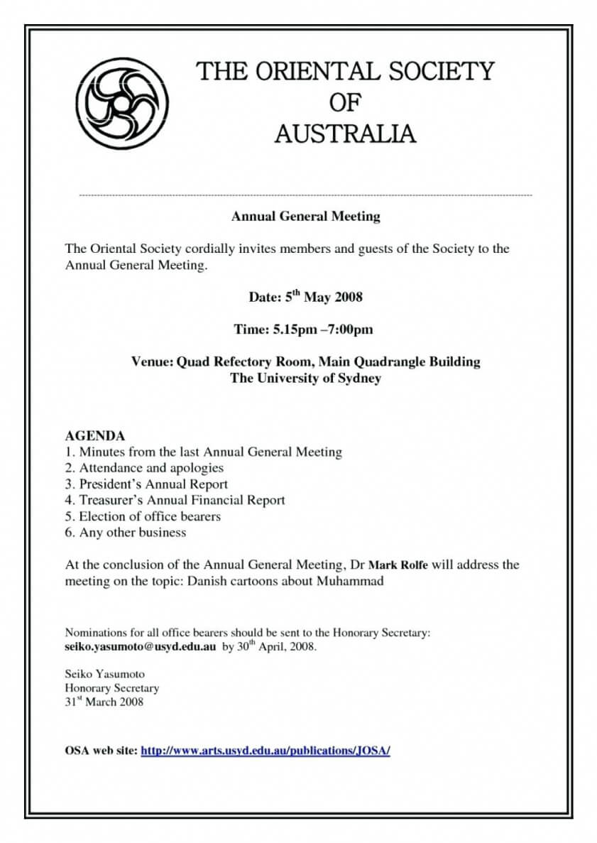 Agm Financial Report Template – Bino.9Terrains.co Meeting with Treasurer's Report Agm Template