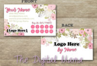 Agnes & Dora Customer Loyalty Punch Card Business Card intended for Business Punch Card Template Free
