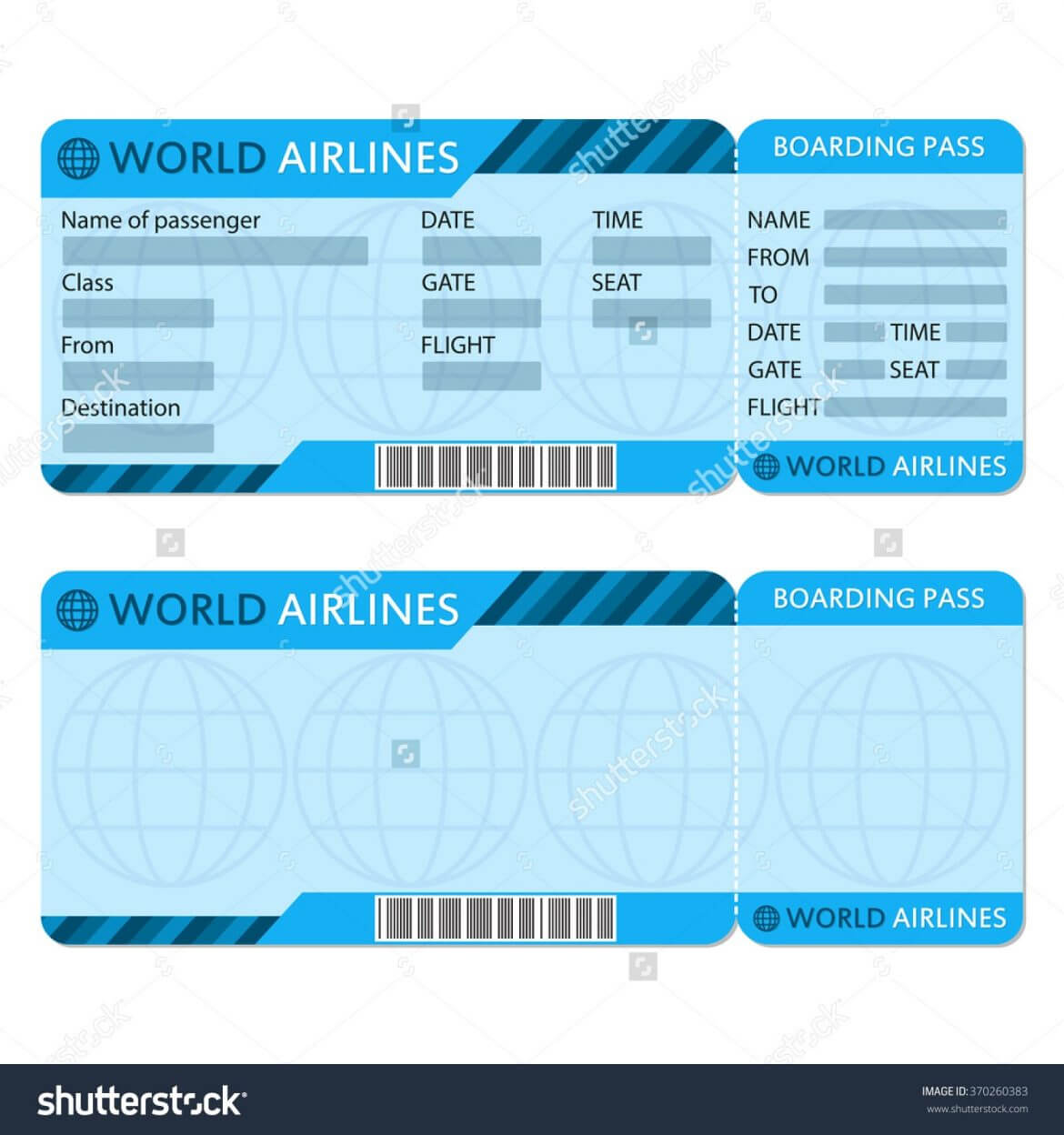 Airline Ticket Template – Teplates For Every Day regarding Plane Ticket Template Word