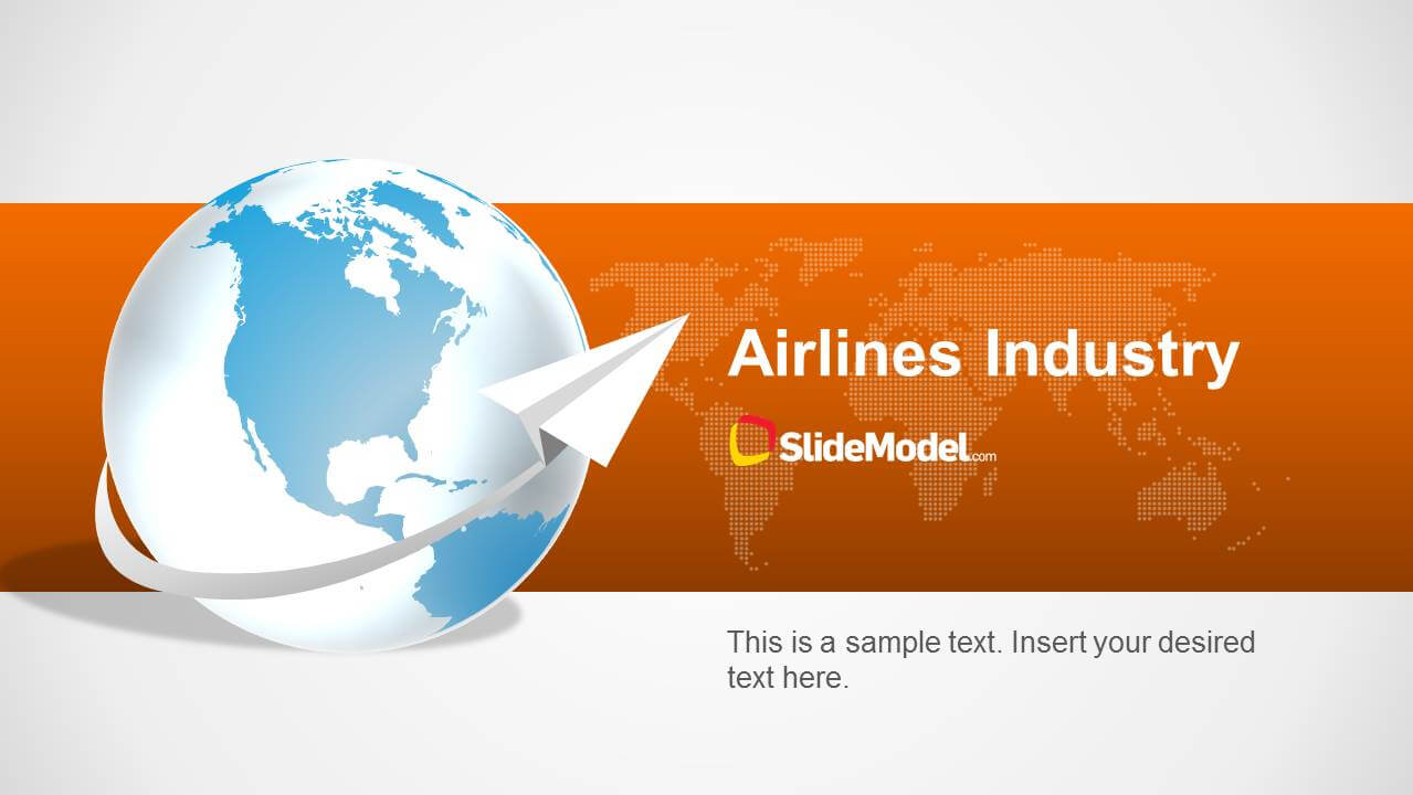 Airlines Industry Powerpoint Template with regard to Powerpoint Templates Tourism