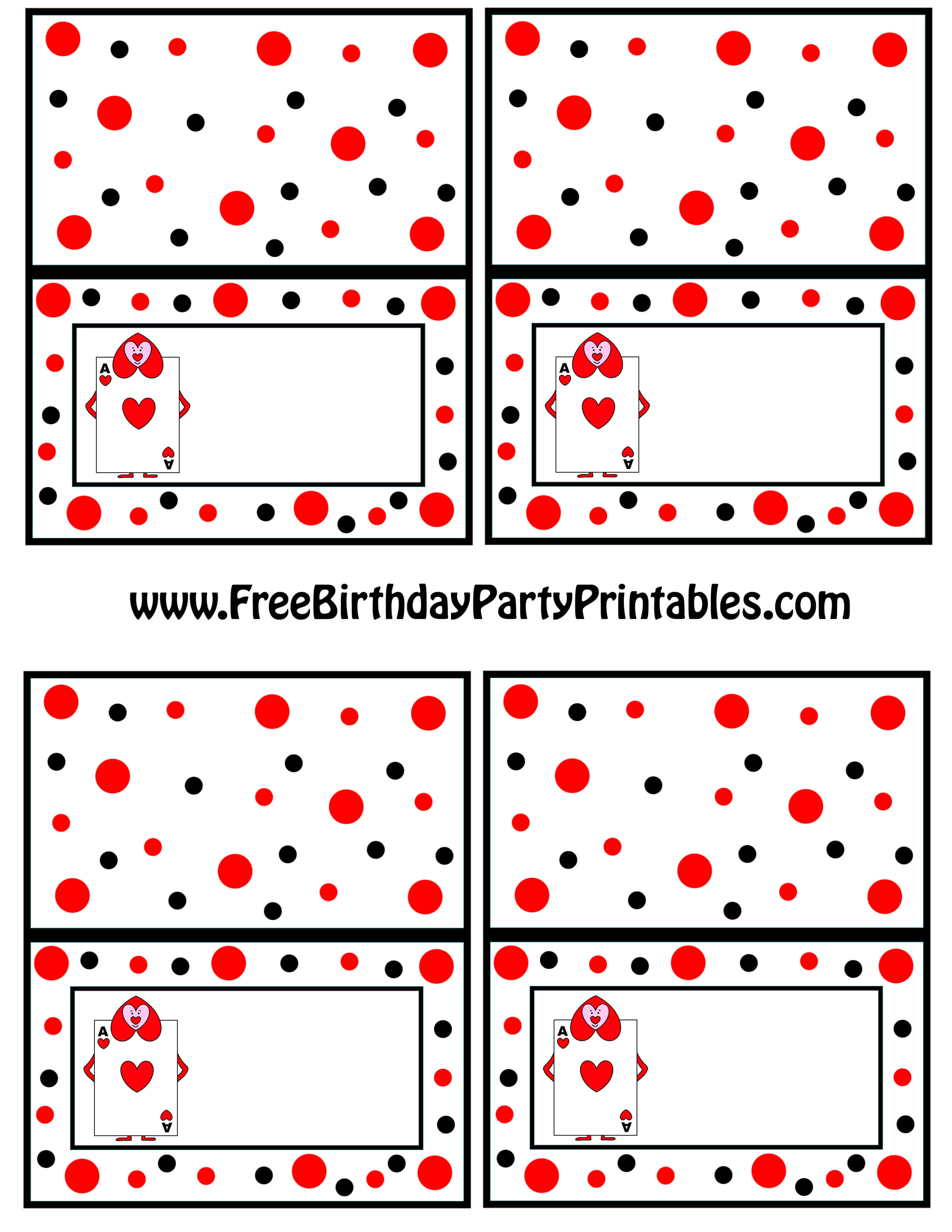 Alice In Wonderland Card Soldiers Printable Cutout for Free Printable Playing Cards Template