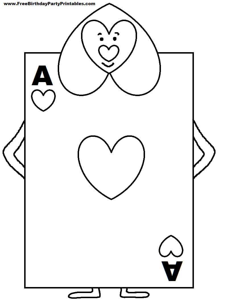 Alice In Wonderland Card Soldiers Printable Cutout In 2019 In Alice In Wonderland Card Soldiers Template