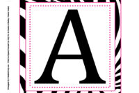 Alphabet Letters To Print Out Free Printable For Posters with Free Letter Templates For Banners