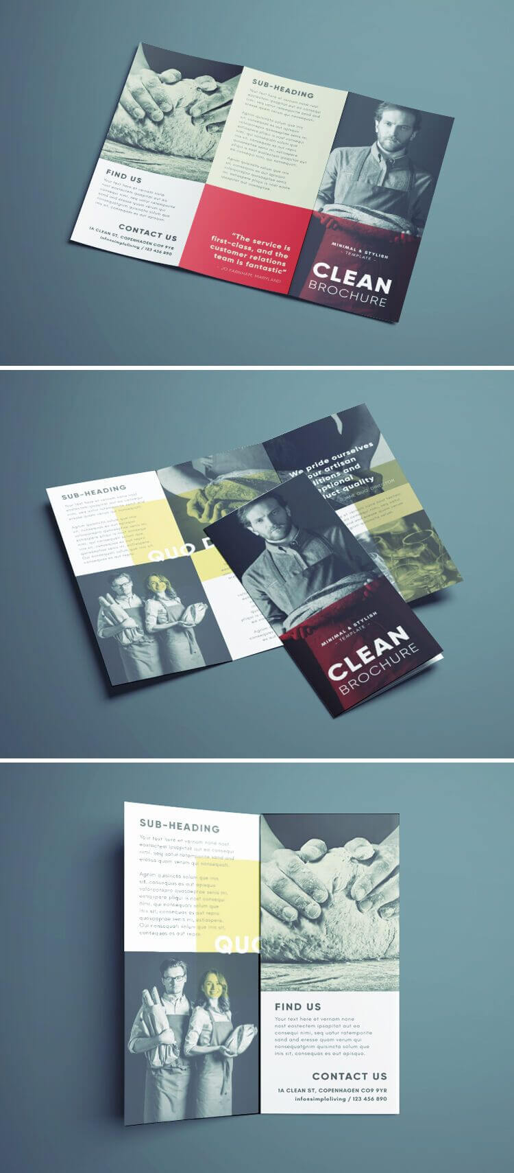 Amazing Clean Trifold Brochure Template | Design. | Brochure For Cleaning Brochure Templates Free