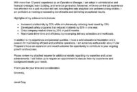 Amazing Management Cover Letter Examples & Templates From inside Operations Manager Report Template