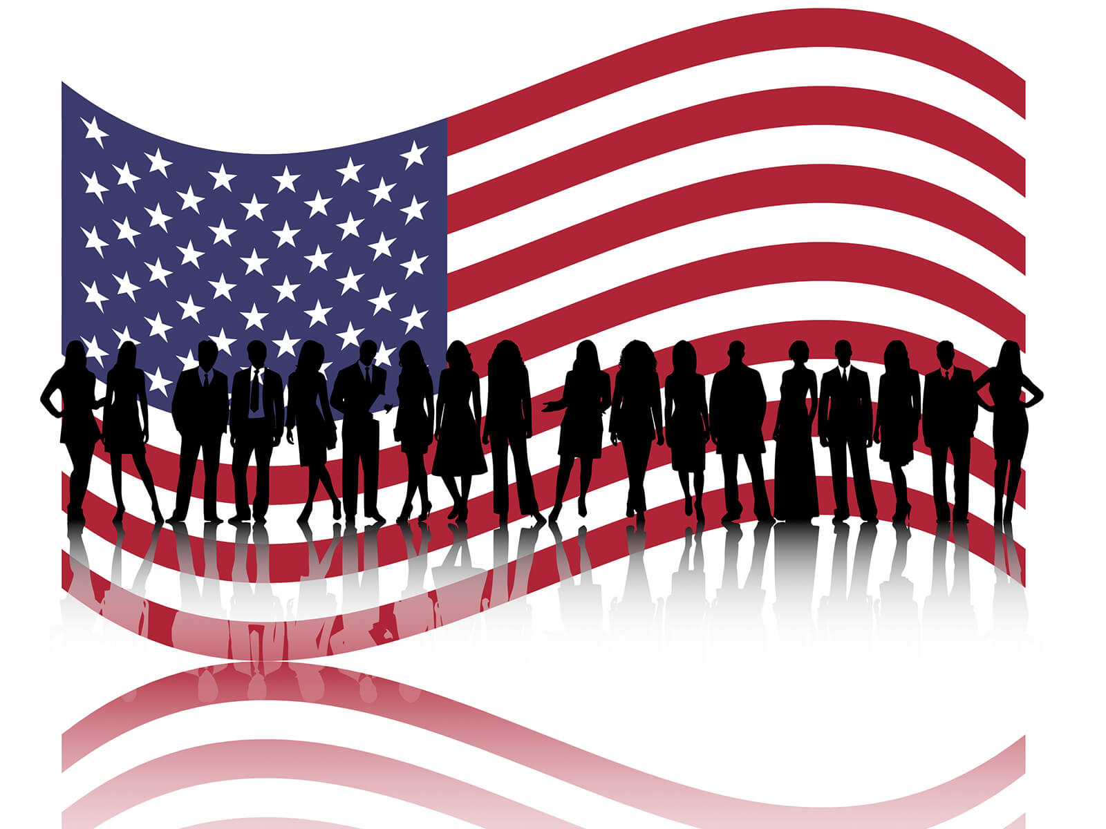 American Business People Powerpoint Templates - Business for American Flag Powerpoint Template